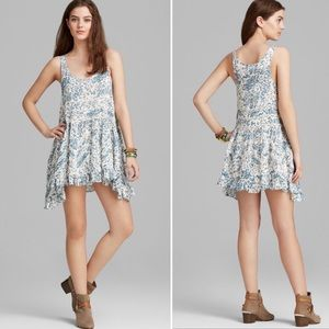Free People Voile & Lace Trapeze Floral Slip Dress
